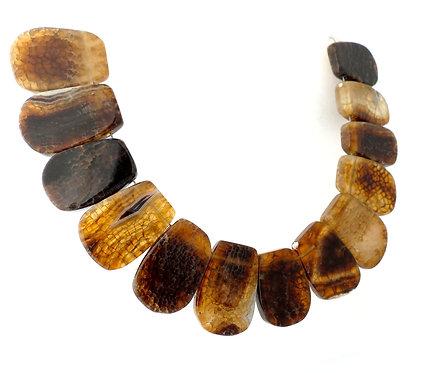 Brown Agate Slab Necklace