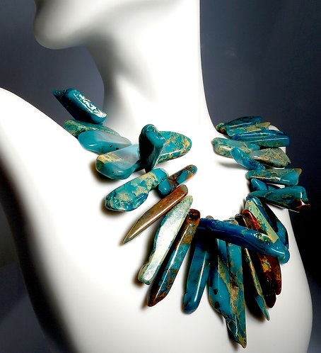 Turquoise 3 Demintional Necklace