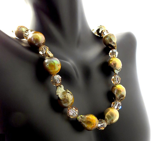 Fresh Water Pearls Accented with Swarovski crystal