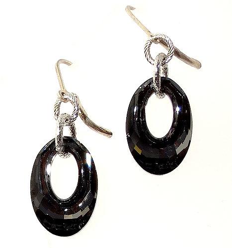Smokey Grey Swarovski Crystal Earrings