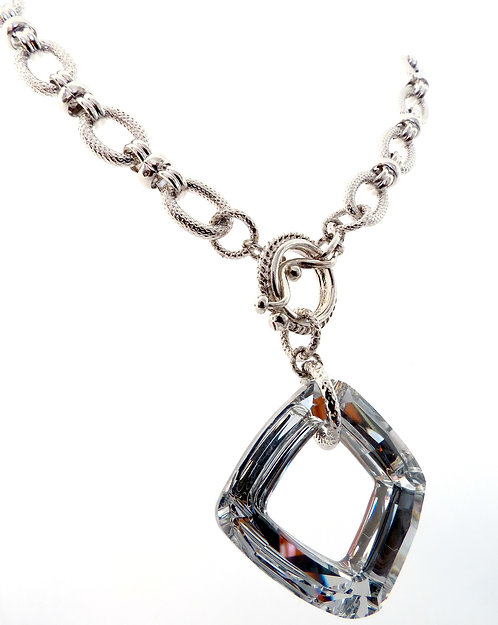 Swarovski Crystal accented in Rodium Chain
