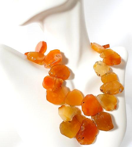 Golden Carmelian Stone Necklace