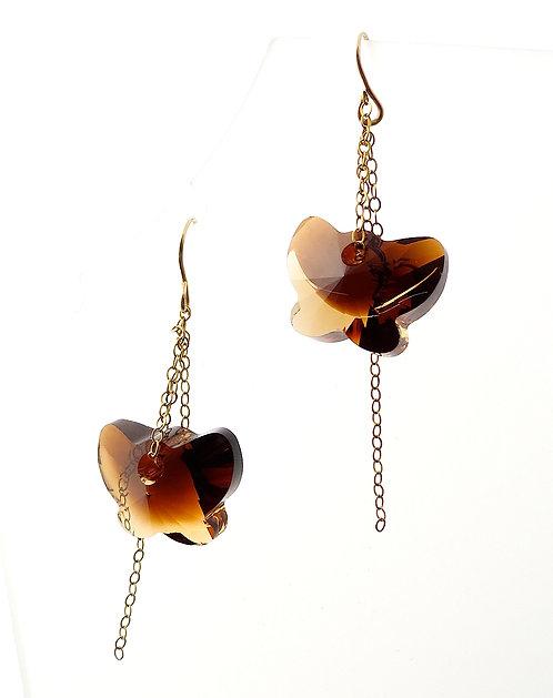 Amber Butterfly Earrings