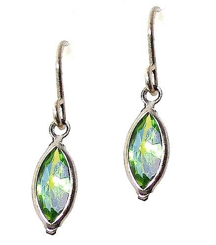 Petite Green Blue Crystal Earrings