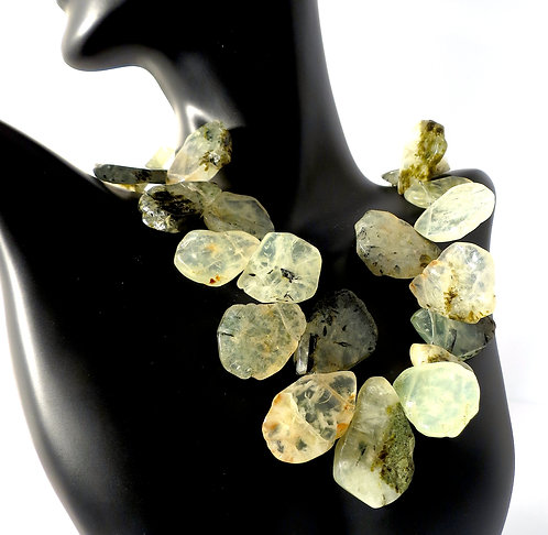 Prehnite 3 Dimensional Necklace