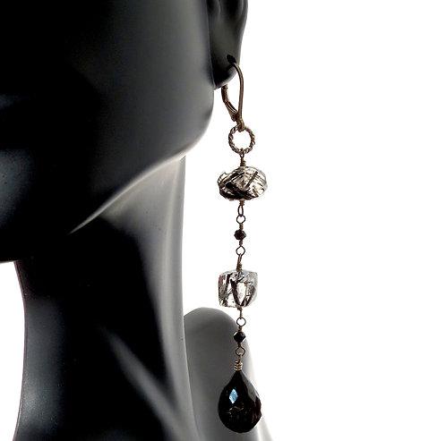 Terminate Quartz Drop Earrings