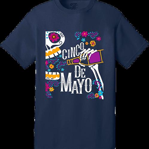 Drinking Skull - Cinco de Mayo (unisex T-shirt)