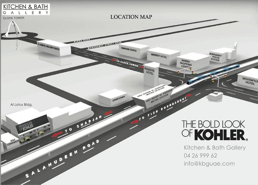 Graphic Map for Kohler Dubai Signature Kitchen & Bath Gallery