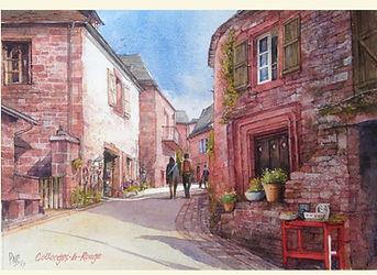 Collonge la Rouge Painting by Paul Clark