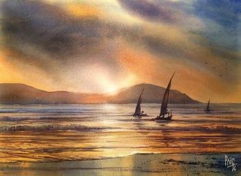 Corfu painting by Paul Clark