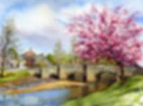 Bridge at Clun Painting by Paul Clark