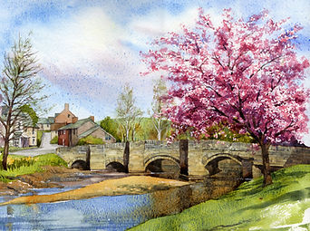 Bridge at Clun Painting by Paul Clark