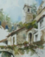 Tuscany watercolour by Paul Clark