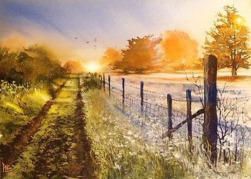 Dusk painting by Paul Clark