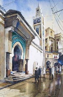 Tangier painting by Paul Clark