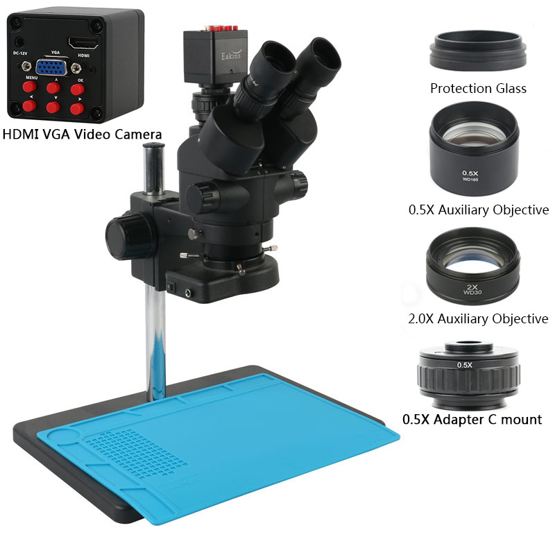 Microscope trinoculaire Eakins x7 / x45