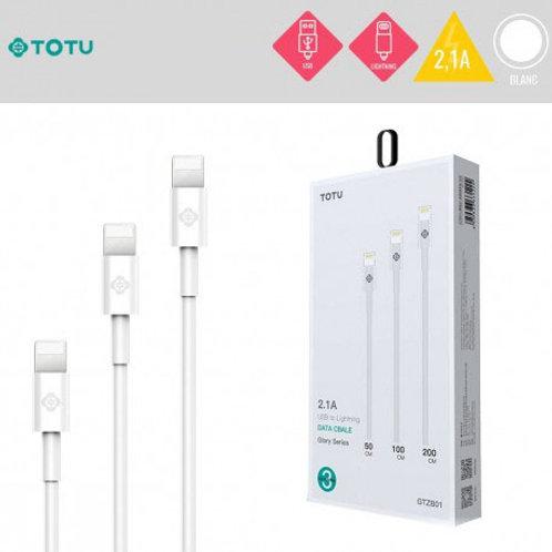Lot 3 câbles de charge lightning Totu - Iphone