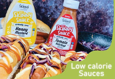 low calorie sauces mustard and ketchup