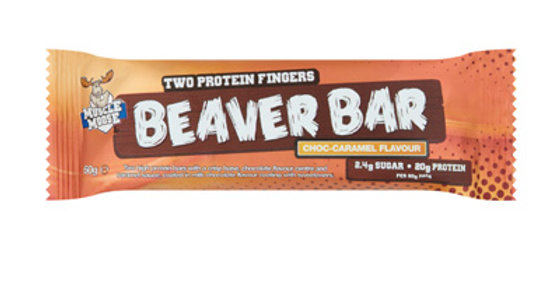 Beaver Bar Choco caramel healthy protein snack