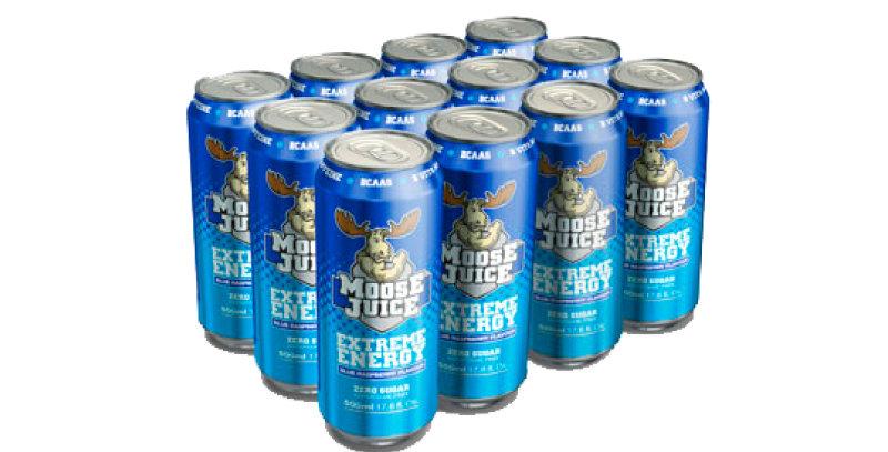 Moose Juice Blue Raspberry Box of 12