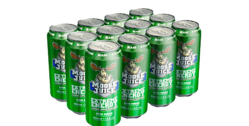Moose Juice Green Apple Box of 12