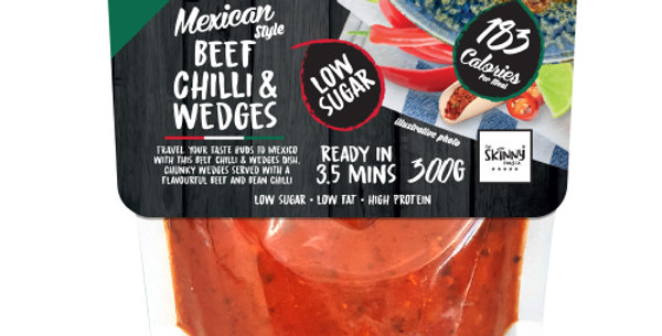 Mexican Beef Chilli & Wedges - Protein Food