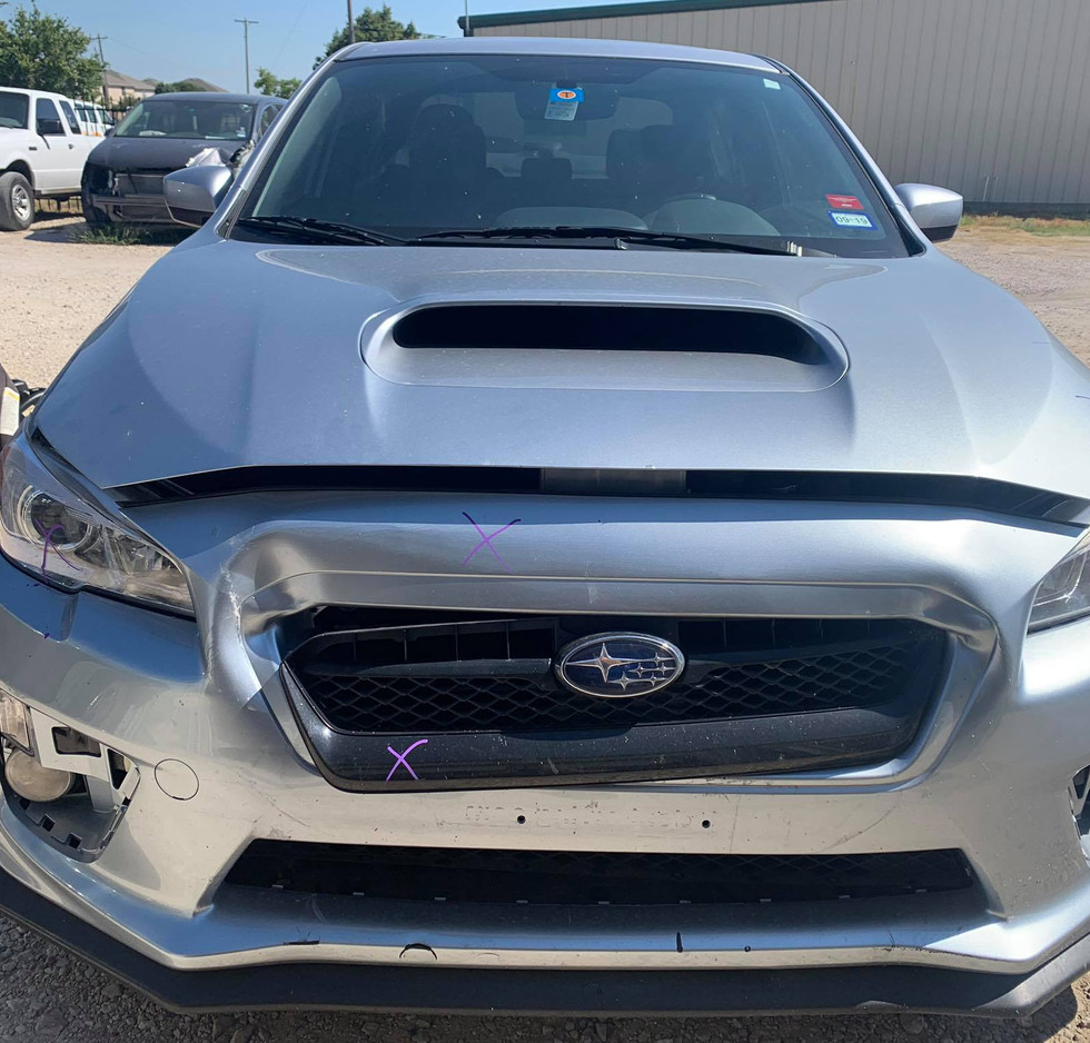 This WRX had a bit of scuffle.