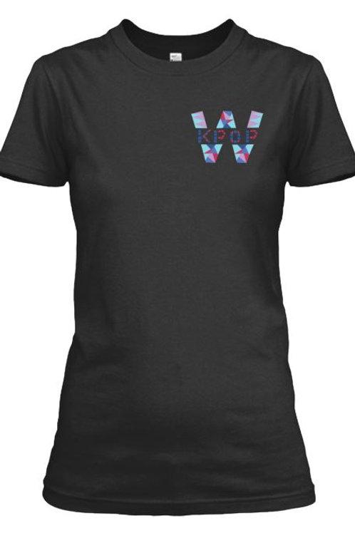 WKPOP T-Shirt ( Corner Logo) Black