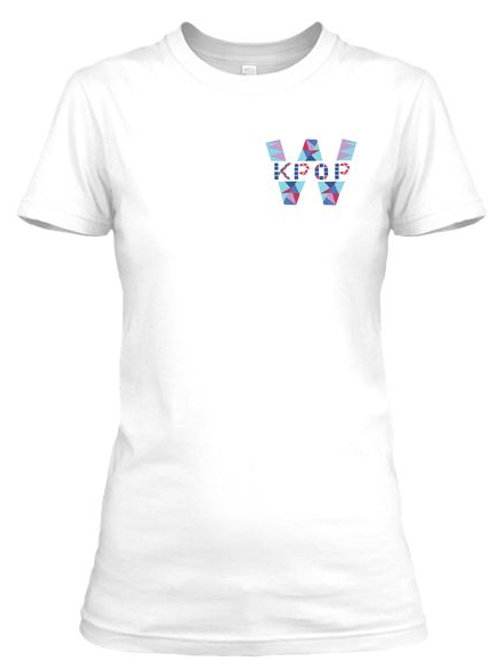 WKPOP T-Shirt ( Corner Logo) White