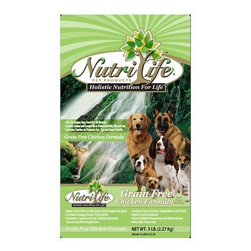 Nutri Life Grain Free Chicken Formula Holisitic Dog Food 35#