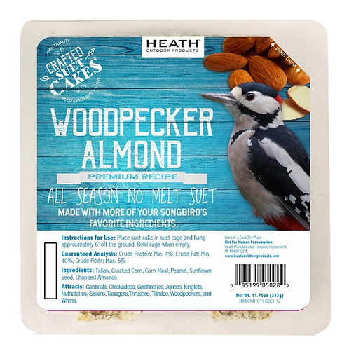 WOODPECKER ALMOND SUET CAKE 11.75OZ