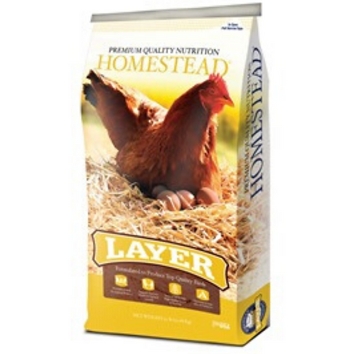 Homestead Layer Pellets or Crumbles 50#