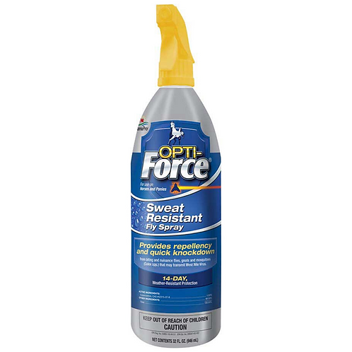 Opti-Force Sweat Resistant Fly Spray for Horses 32oz