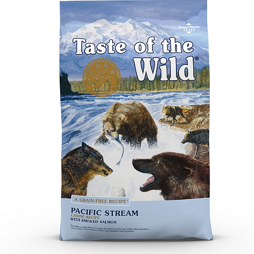 Taste of the Wild Pacific Stream Grain-Free Dry Dog Food 28#