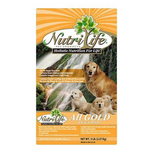 Nutri Life All Gold Holistic Dog Food 5#