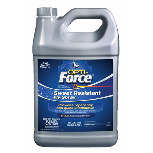 Opti-Force Sweat Resistant Fly Spray for Horses Gal