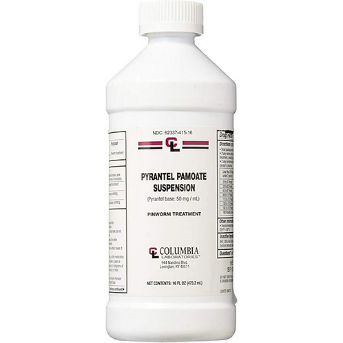 Pyrantel Pamoate Suspension 50 Mg 16 Oz