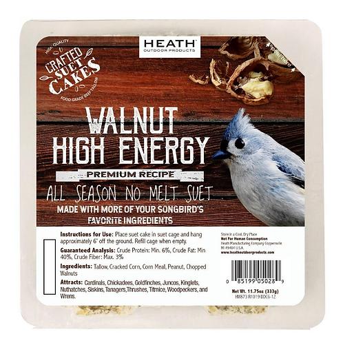WALNUT HIGH ENERGY SUET CAKE 11.75OZ