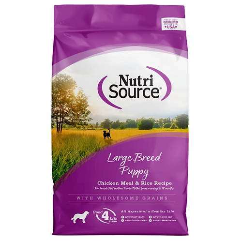 Nutri Source Large Breed Puppy Chicken and Rice Dry Dog Food