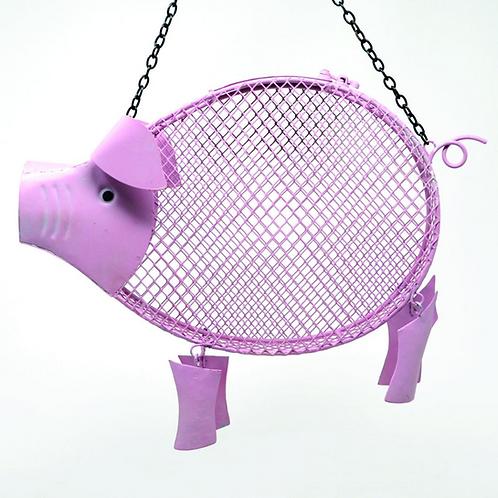 PINK PIG MESH FEEDER
