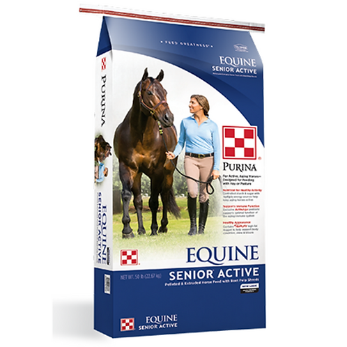 Purina Equine Senior Active Horse Feed 50#