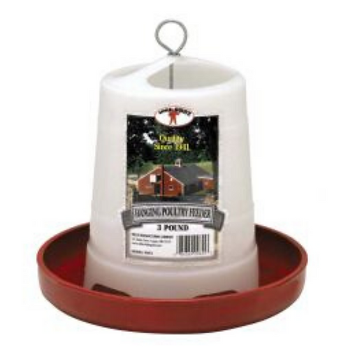 3-Pound Plastic Hanging Poultry Feeder