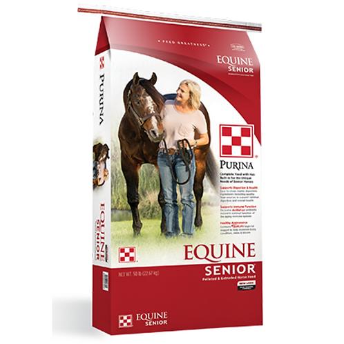 Purina Equine Senior Horse Feed 50#