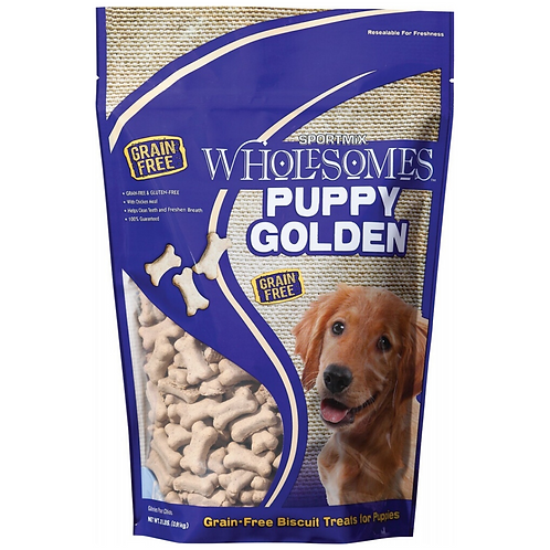 Wholesomes Puppy Golden Biscuits Grain Free Dog Treats 2#