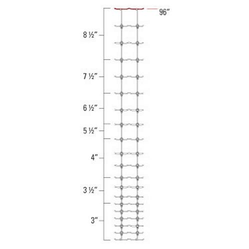 """Cross-Lock Game Fence 12.5ga  96"""" x 330'"""