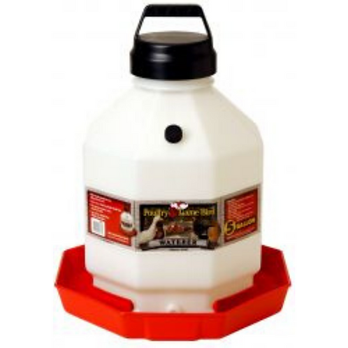 5 Gallon Plastic Poultry Waterer