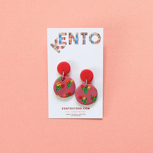 Cactus Flower Mini Dangles - Pink