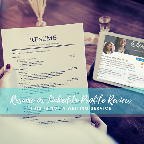 Resume OR LinkedIn Profile Review