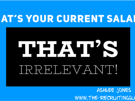The dirty secret is out: Your salary history is irrelevant!