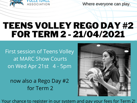 Teens Volley - Rego Day #2 for Term 2